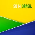 Abstract Geometric Background With Brazil Flag Colors. Vector Illustration Stock Images - 40344574