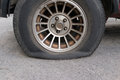 Punctured Tyre Royalty Free Stock Image - 40346746