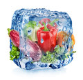 Ice Cube With Vegetables Stock Photo - 40347180