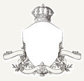 Vintage Royal Crest With Shield, Crown And Banne Royalty Free Stock Photo - 40352005