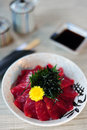 Japanese Rice With Maguro Stock Photos - 40360603
