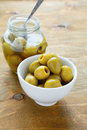 Green Olives In A White Bowl, Food Closeup Stock Photo - 40362100