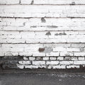 Urban Background Interior With Old White Brick Wall Royalty Free Stock Photo - 40366915
