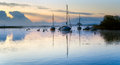 Misty Dawn At Christchurch Quay Royalty Free Stock Photography - 40367857