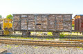 An Old Vintage  Train Wagon On The Rails Royalty Free Stock Photo - 40370825
