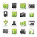 Home Appliances And Electronics Icons Stock Images - 40384834