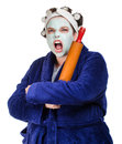 Mean And Ugly Housewife Stock Photography - 40386352