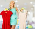 Woman With Shopping Bags In Clothing Store Stock Photo - 40392230