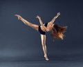 Beautiful Dancer Dancing Dance Ballet Contemporary Style Stock Images - 40394554