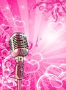 Pink Valentines Microphone Royalty Free Stock Photos - 4047928