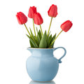 Tulips In Jar Stock Photography - 40408312