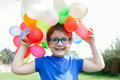 Child  With Colorful Balloons Stock Photos - 40413013