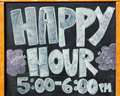 Sign For Happy Hour Stock Photography - 40418342