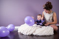 Mother And Daughter Are Laughing Together While Playing With Baloons Royalty Free Stock Photo - 40432835