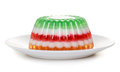 Fruit And Milk Jelly On Plate Royalty Free Stock Image - 40441766
