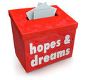 Hopes Dreams Box Collecting Desires Wants Yearning Ambitions Royalty Free Stock Images - 40452699
