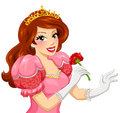 Princess Holding A Rose Stock Image - 40457431