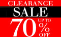 Clearance Sale Up To 70 Percents Promotion Label Stock Photography - 40462572