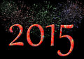 Colorful 2015 With Firework Royalty Free Stock Photo - 40463205