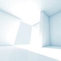 Abstract Empty Room 3d Interior With White Walls Stock Image - 40464771