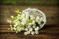 Lily Of The Valley In A Decorative Basket Royalty Free Stock Images - 40467229