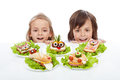Kids Discovering The The Healthy Sandwich Alternative Royalty Free Stock Photo - 40467915