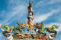 Dragon Statue On China Temple Roof Royalty Free Stock Photography - 40469017