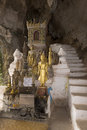 Pak Ou Caves - Buddhist Wooden Statues Royalty Free Stock Photo - 40472355