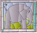 Elephant Stained Glass Royalty Free Stock Images - 40476679