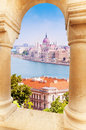 View On Parliament From Fisherman S Bastion Royalty Free Stock Image - 40479416