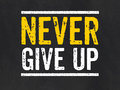 Sign With The Text Never Give Up Royalty Free Stock Image - 40479686