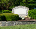 Blank Sign Of The Subdivision Entrance Stock Photos - 40480943