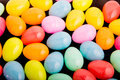 Colorful Plastic Easter Eggs On Black Royalty Free Stock Photos - 40487988