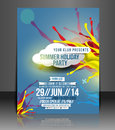 Music Party Flyer Design Stock Image - 40489491