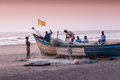 Fishermans Picking Up Their Nets Stock Photography - 40494452