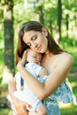 Mother With Her Child Take Rest Stock Photos - 40498353