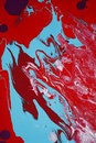 Red And Blue Paint Abstract  Stock Photos - 4054753