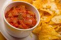 Tortilla Chips And Salsa Royalty Free Stock Image - 4055316
