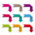 Infographic Elements Flag Arrows Royalty Free Stock Image - 40501756