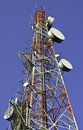 Telecommunication Towers Against Blue Sky Stock Image - 40508431