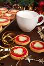 Christmas Cookies With Milk Royalty Free Stock Photos - 40512008