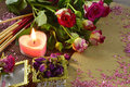 Romantic Till Life With Candle Stock Photo - 40514320