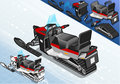 Isometric Snowmobile In Rear View Stock Images - 40527414