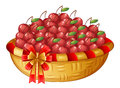 A Basket Of Cherries Stock Images - 40547304
