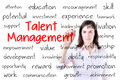 Business Woman Writing Talent Management Concept.  Royalty Free Stock Image - 40552516