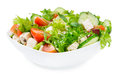 Salad With Fresh Vegetables In A Ceramic Bowl Royalty Free Stock Image - 40553426
