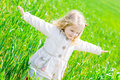 Happy Little Girl Smiling Outdoors Royalty Free Stock Photo - 40564855