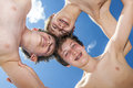 Low-angle Shot Of Three Boys Under Blue Sky Royalty Free Stock Photography - 40572997