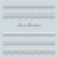 Set Of Lace Borders Royalty Free Stock Photos - 40573248