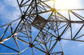 View Of The Structure Under Power Transmission Tower Royalty Free Stock Image - 40582066